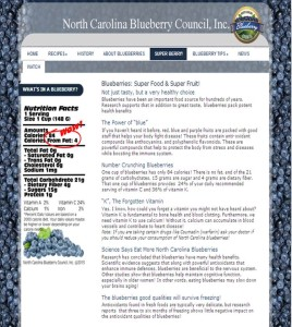 NC Blueberry Council Consumer Website