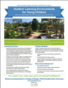 Cover photo for Outdoor Learning Environments for Young Children - Design Certification