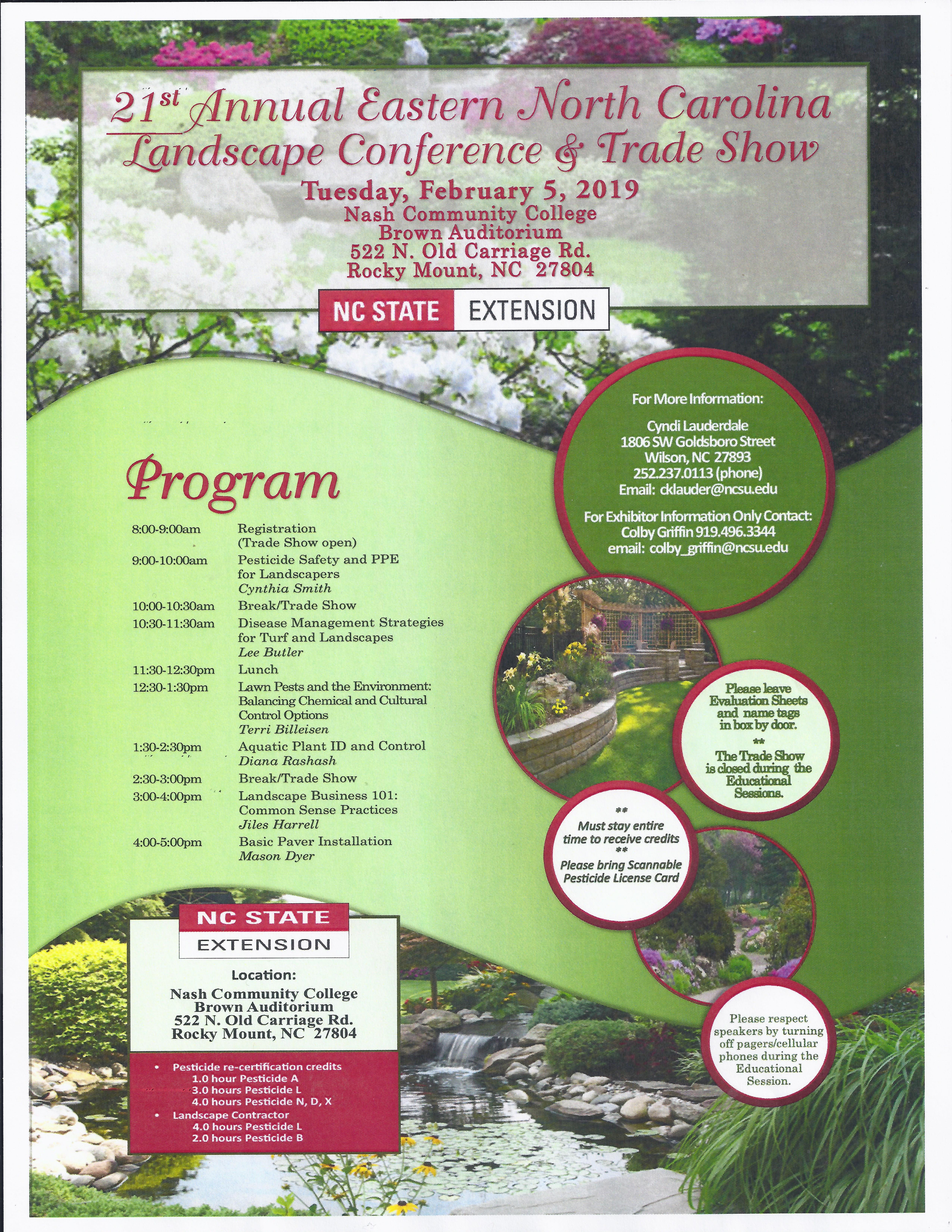 Landscape Conference flyer image