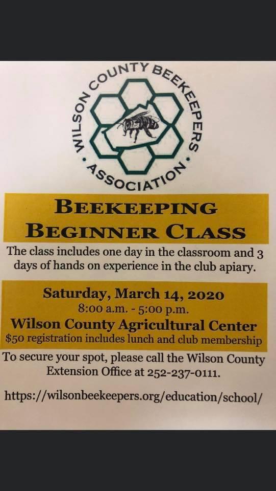 Beginning Beekeeper Class flyer