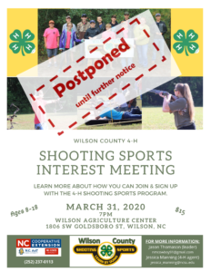 Cover photo for POSTPONED - Wilson County 4-H Shooting Sports Interest Meeting