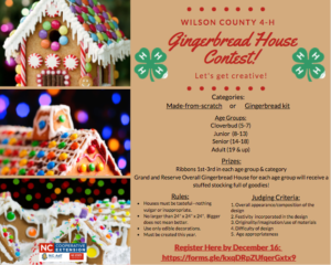 Cover photo for 4-H Gingerbread House Contest