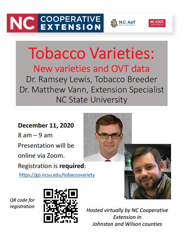 Tobacco Varieties webinar