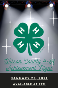 Cover photo for 4-H Achievement Night 2021