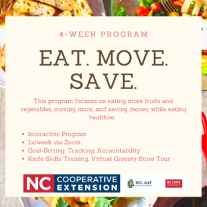 Cover photo for NEW PROGRAM ALERT: Eat. Move. Save.